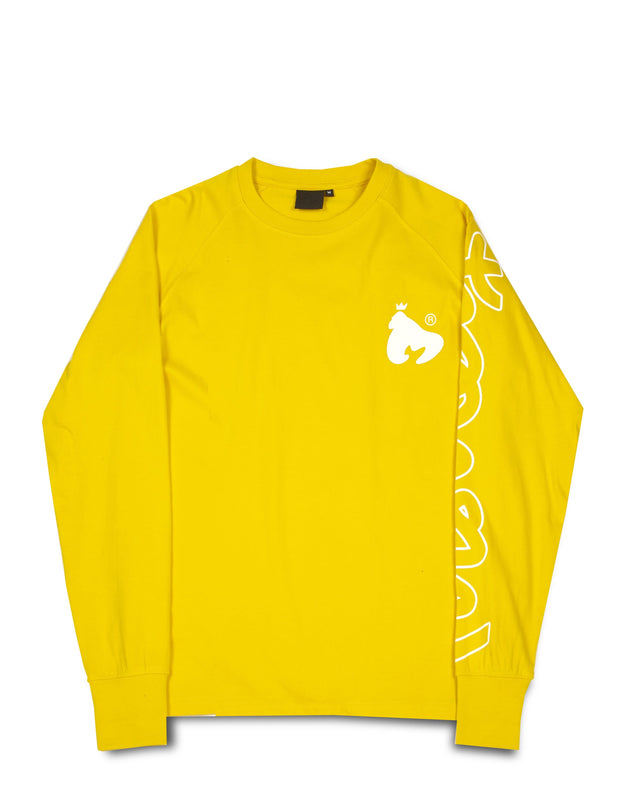APE SLEEVE L/S TEE YELLOW