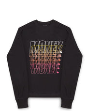 MONEY REPEATER LS TEE	BLACK