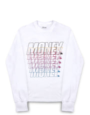 MONEY REPEATER LS TEE	WHITE