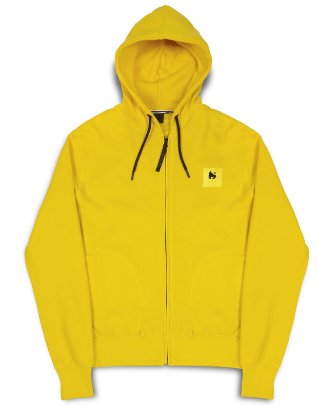 A-TRACK ZIP HOOD YELLOW