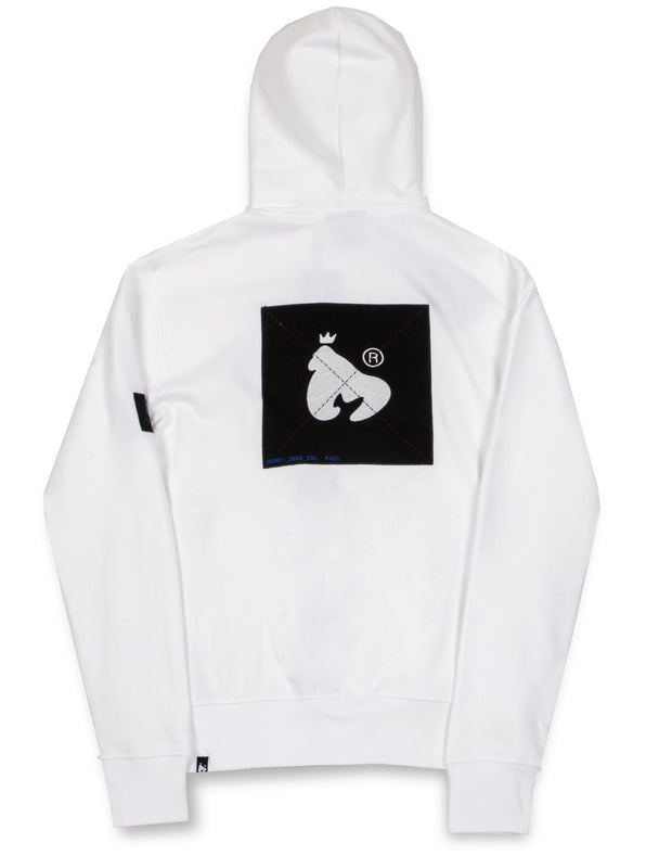 COLOUR PACK ZIP HOOD WHITE