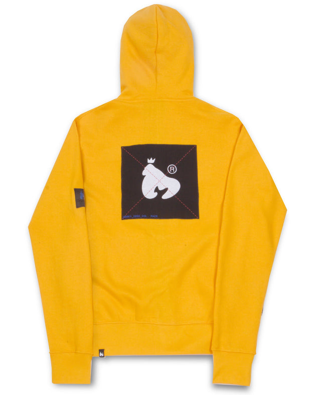 COLOUR PACK ZIP HOOD YELLOW