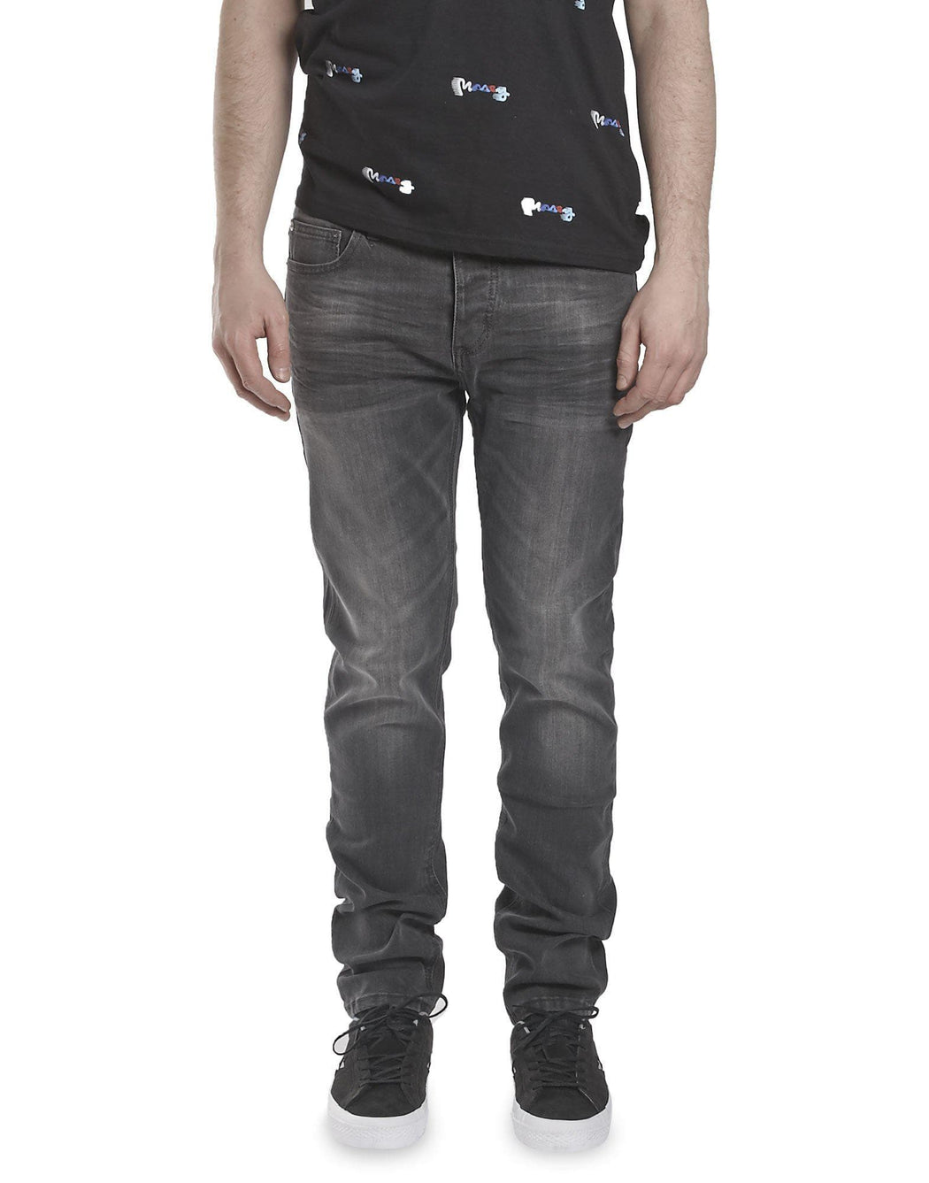 Money Tapered Fit Jeans in Light Grey