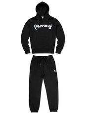 BLACK MONEY SIG APE HOOD TRACSUIT