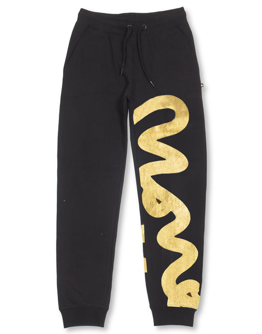 BLACK & GOLD BIG SIG CAMO PANTS