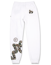 WHITE BIG SIG CAMO PANTS