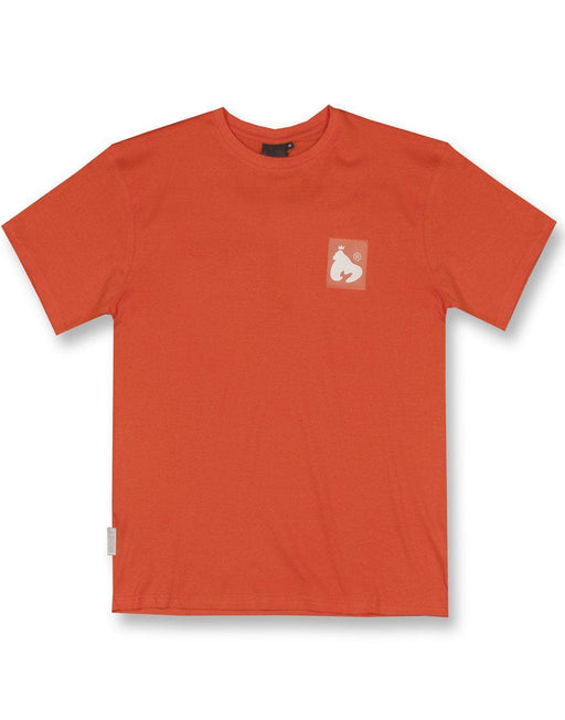 ORANGE CLEAR PATCH LOGO TEE