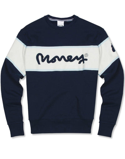 MONEY COLLEGE STRIPE CREW