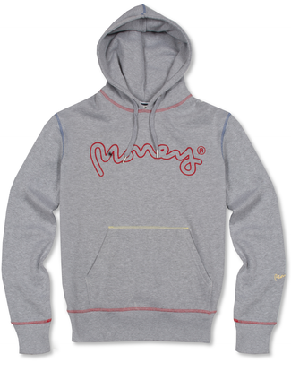 GREY CONTRAST STITCH HOODY