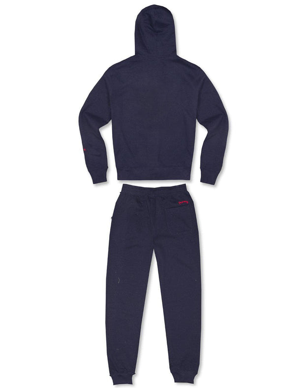 NAVY ZAMAC ZIP HOODED TRACKSUIT