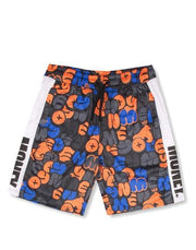 ORANGE BUBBLE TRICOT TRACK SHORTS