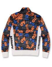 ORANGE BUBBLE TRICOT TRACK TOP