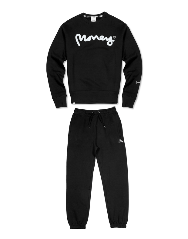 BLACK MONEY SIG APE CREW TRACKSUIT
