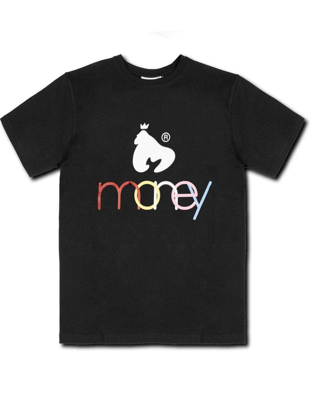 BLACK UNITED COLOURS OF MONEY TEE