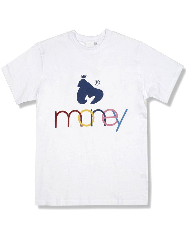 WHITE UNITED COLOURS OF MONEY TEE