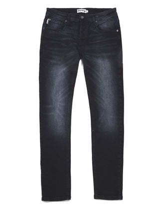 APE EMBOSSED BLUE/BLACK JEAN