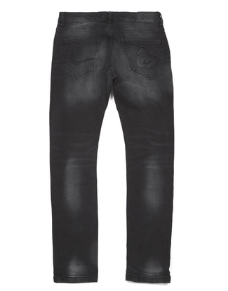 APE EMBOSSED BLACK JEAN