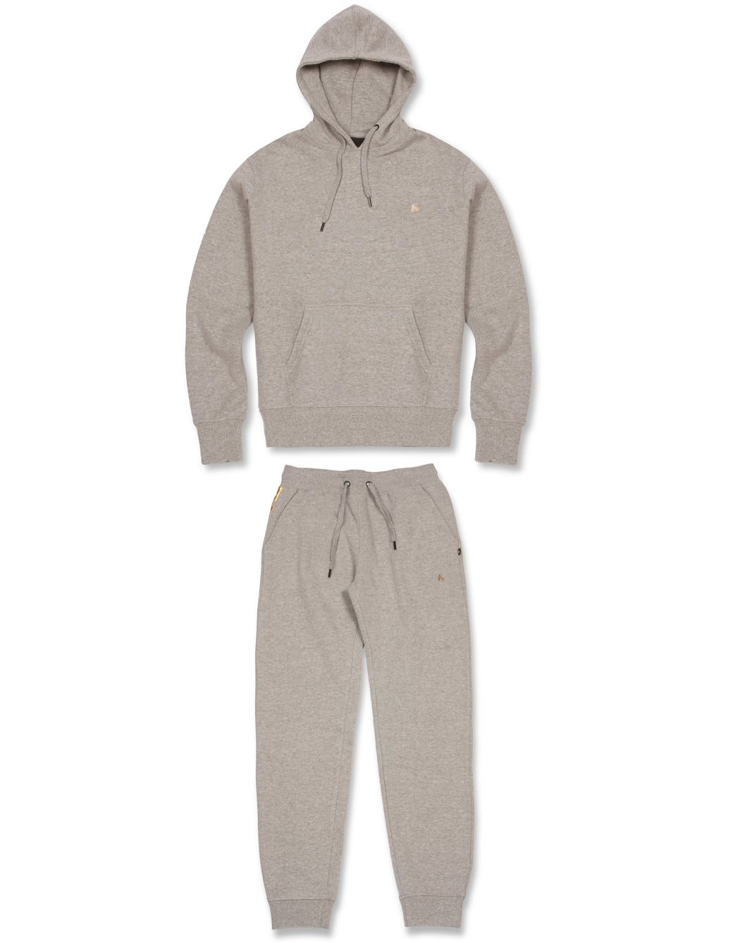 GREY SUPER FAT PRINTED ZIP HOOD TRACKSUIT