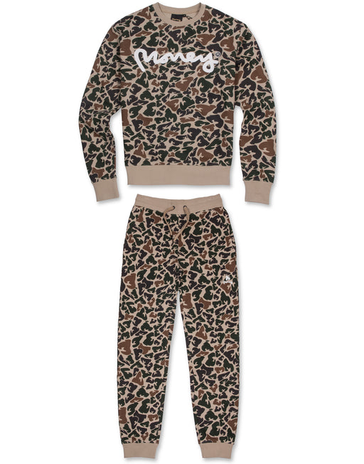 LIGHT CAMO CREW TRACKSUIT