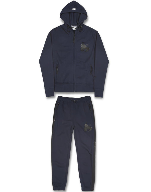 C FIT HOOD TRACK NAVY