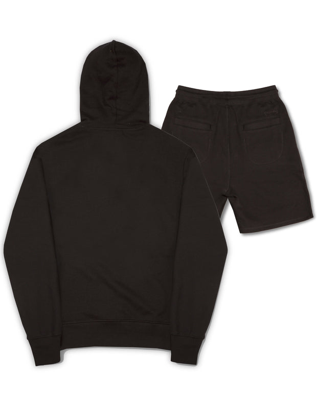 A-TRACK CREW/SHORT TRACKSUIT BLACK