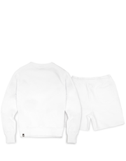 A-TRACK CREW/SHORT TRACKSUIT WHITE