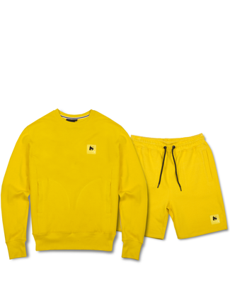 A-TRACK CREW/SHORT TRACKSUIT YELLOW