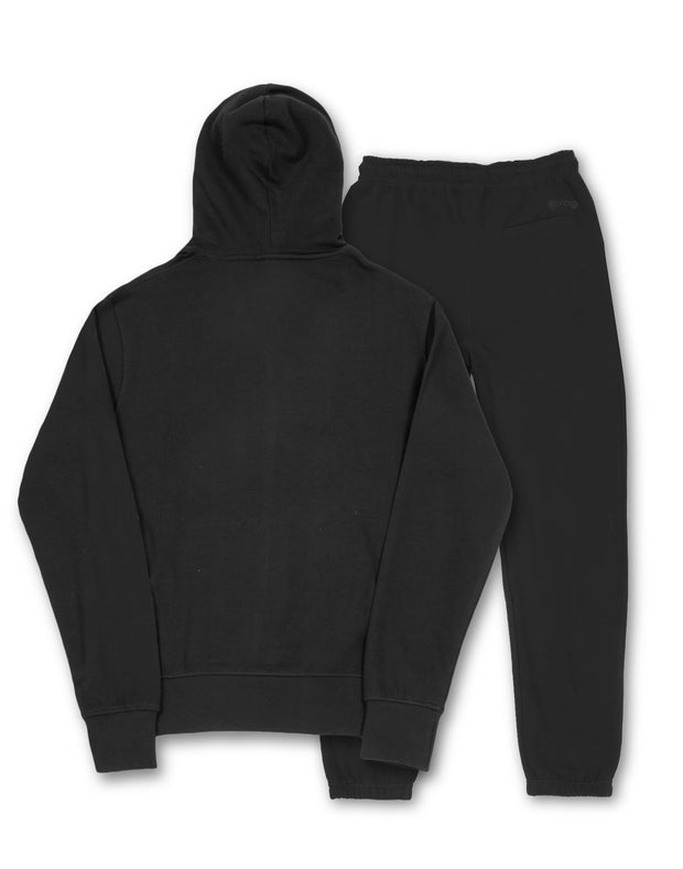 COMBO PATCH TRACK HOOD BLACK