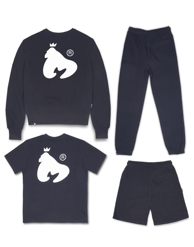 MONEY CLOTHING NAVY SIG APE CREW TRACK 4PACK