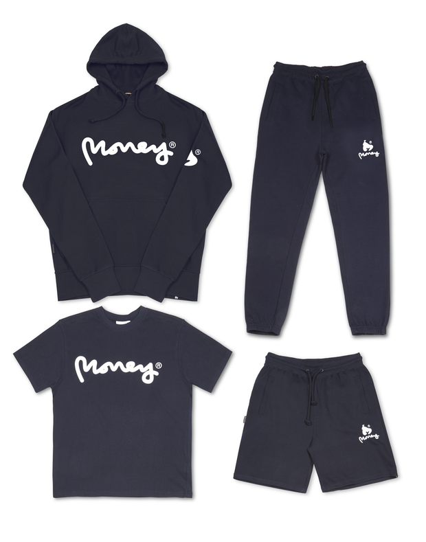 MONEY CLOTHING NAVY SIG APE HOOD TRACK 4PACK