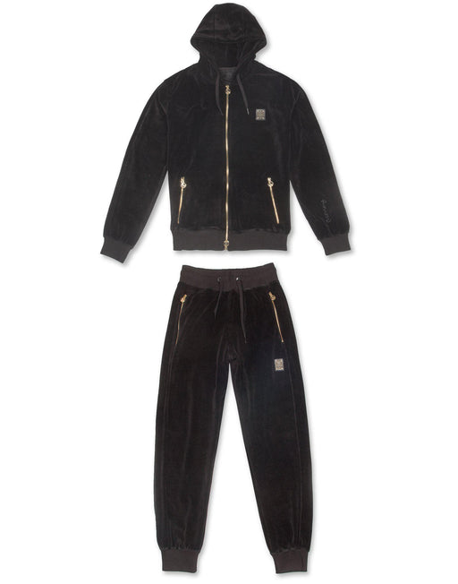 Velour Hodded Track Suit