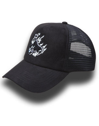 FLAMES CAP BLACK