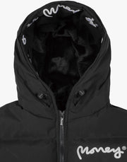 LADIES EMERTON HOODED PUFFER JACKET BLACK