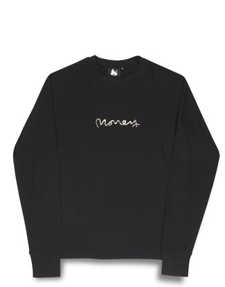 REAL CASH L/S TEE BLACK