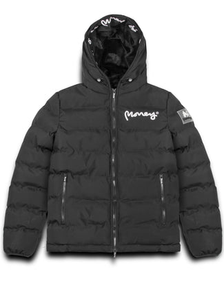 MENS EMERTON HOODED PUFFER JACKET BLACK