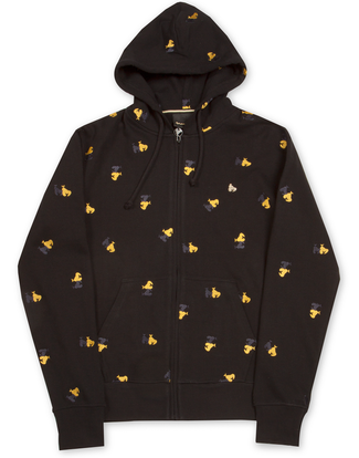MONEY CLOTHING APE MONO ZIP HOOD BLACK
