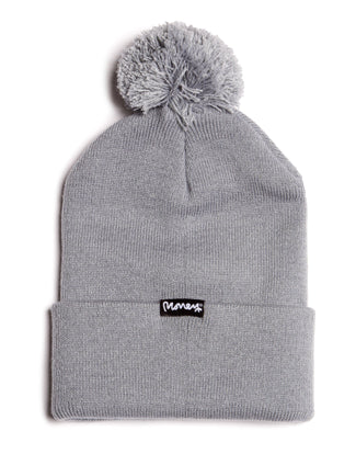 MONEY COMBO BOBBLE HAT GREY