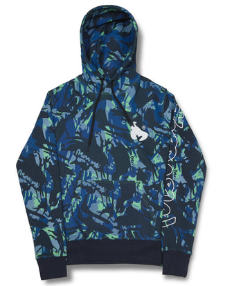 NIGHT CAMO HOODY NAVY