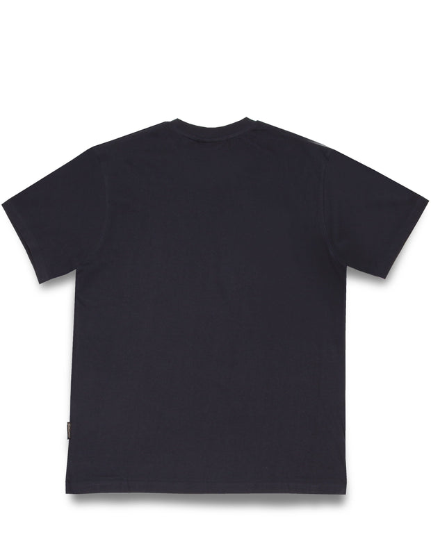 SWISH CUT BOX FLOCK TEE BLACK
