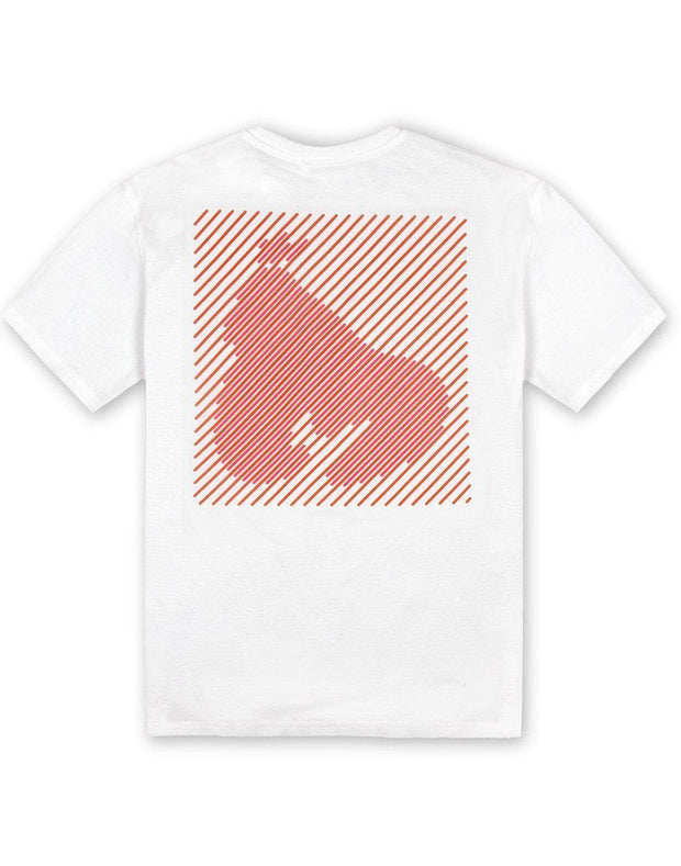 WHITE APE OUT GRID TEE