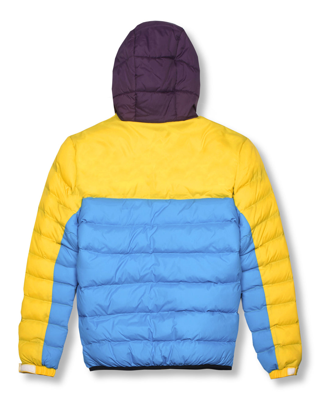 Money Clothing AW18 hooded colour block puffer jacket