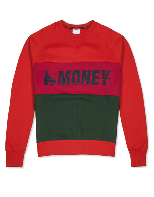 Money Clothing crew neck sweater in orange