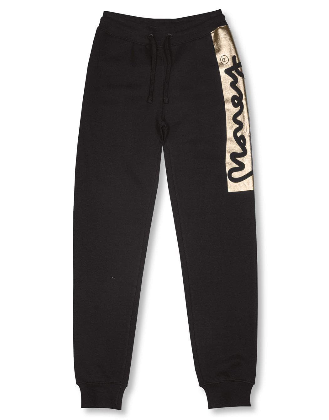 Money Clothing block signature logo track pants in black