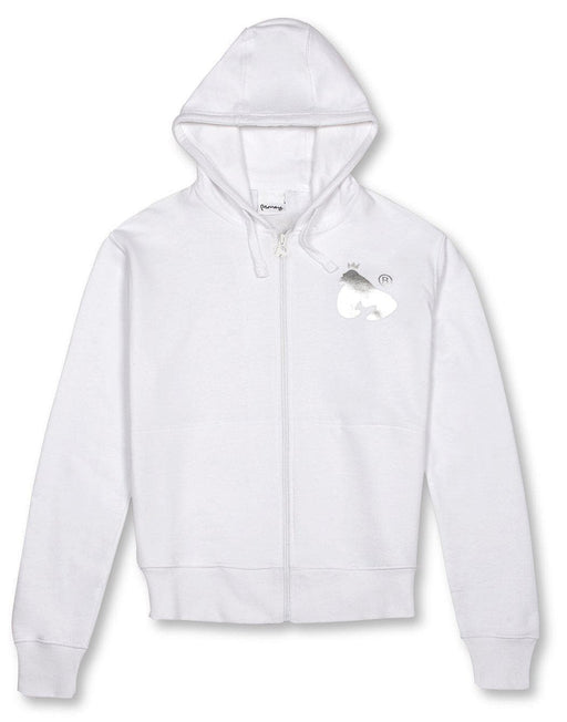 Money Clothing block sig zip hood in white