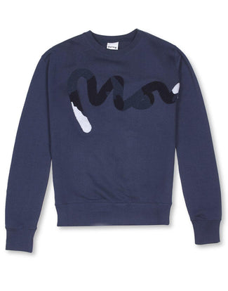 Money Clothing crew neck sweater with camo details in navy