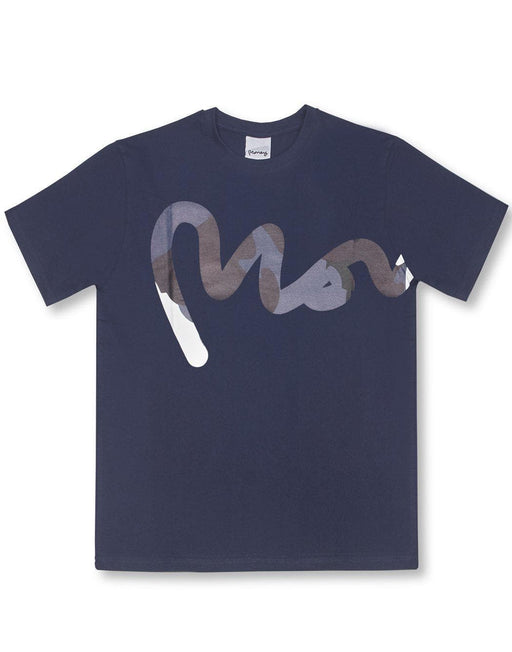 Money Clothing tee with camo details in navy