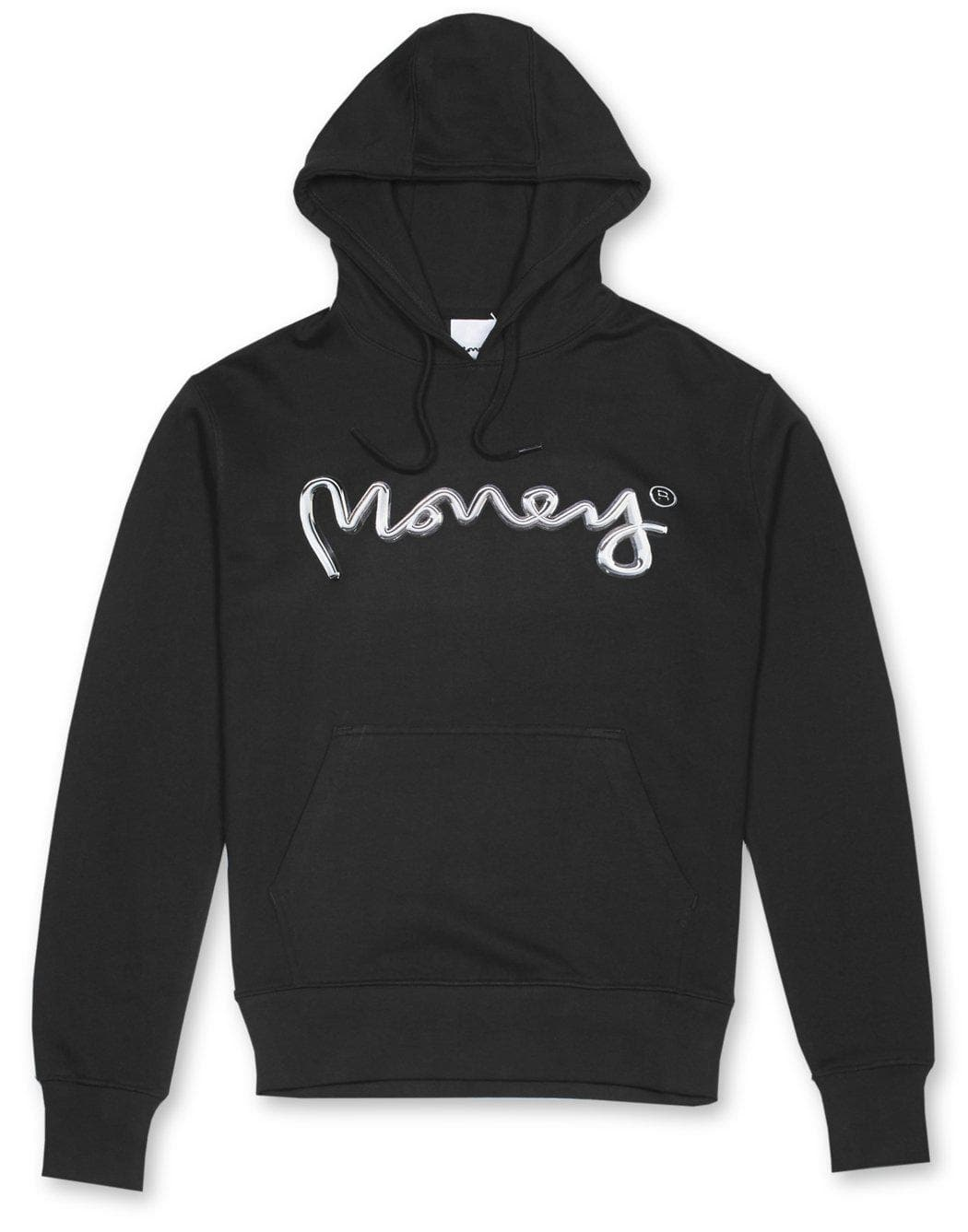 Money Clothing hoody with chrome artwork details in black