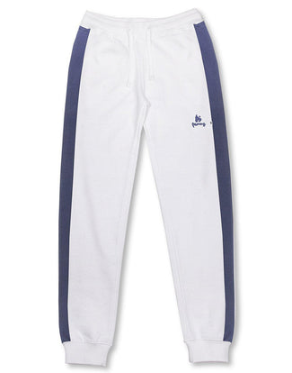 Money Clothing classic retro trackpants in white