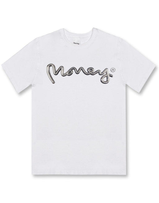 Money Clothing tee with chrome artwork details in white