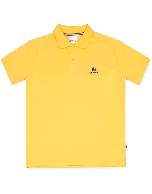 Money Clothing classic polo shirt in yellow